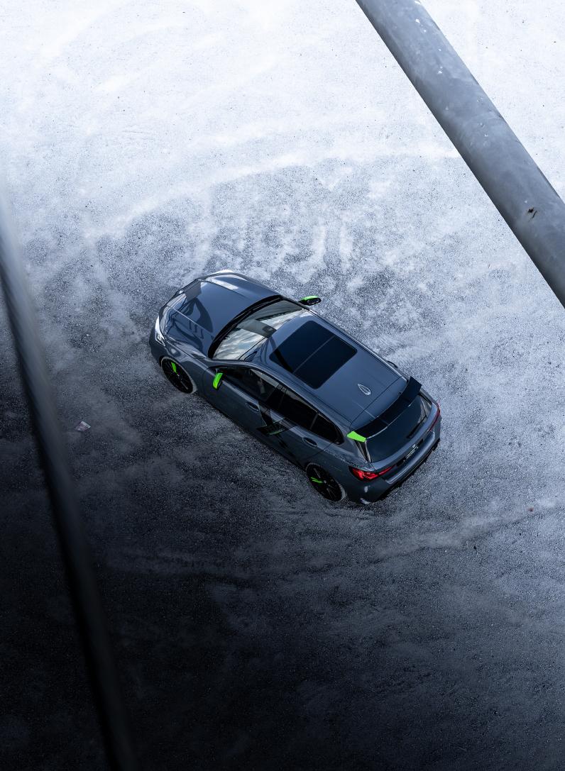 Felix Performance BMW 1er Matrix bird view @dschmdt